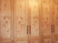 Oak bedroom with book matched character oak panels.