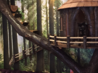 This tree house and tree made and installed for Kitty Caf� Nottingham.