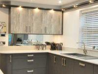 Dark grey contemporary kitchen with driftwood grey.